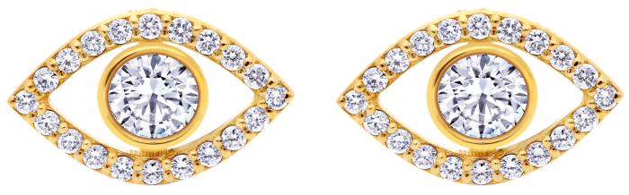 Idyl gold and diamond Big stud, $245, with Audrey add-on, $285