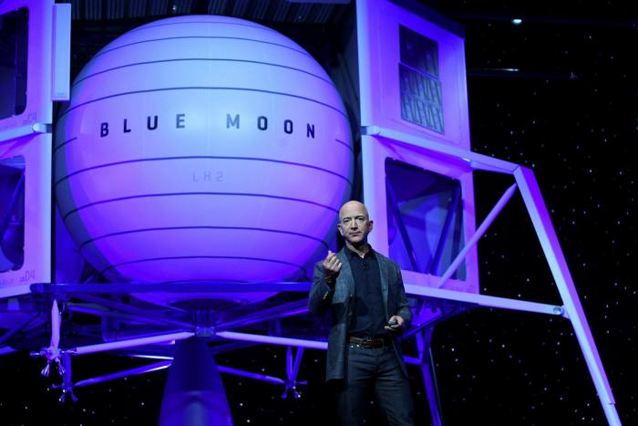 Jeff Bezos unveils his space company Blue Origin's lunar lander
