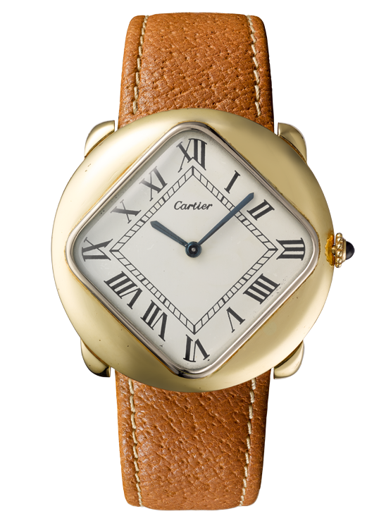Gold, rose-gold and sapphire Pebble watch, 1972