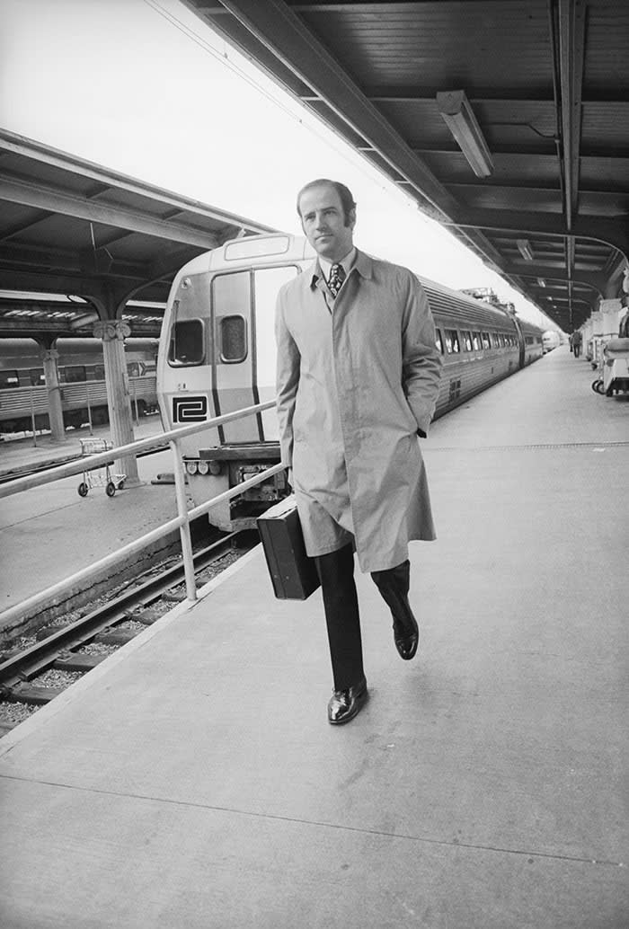 As the newly elected senator for Delaware, he commuted between Washington and Wilmington – a journey for which he became known as 'Amtrak Joe'