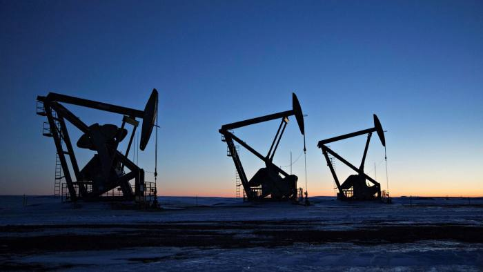 Oil pumps in North Dakota, US