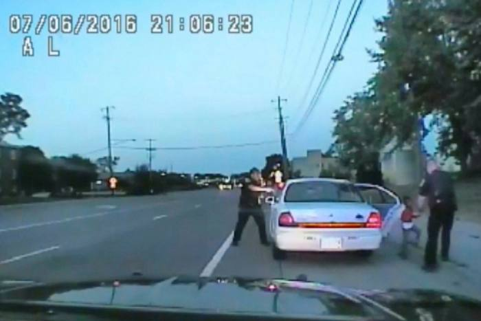 Footage taken by a police car camera shows officer Jeronimo Yanez after shooting into Philando Castile's vehicle