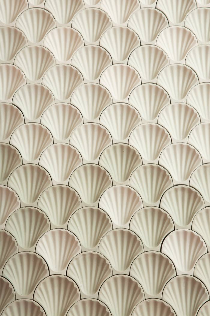 Rocaille mosaic of seashells by Fornace Brioni,from €10 per piece