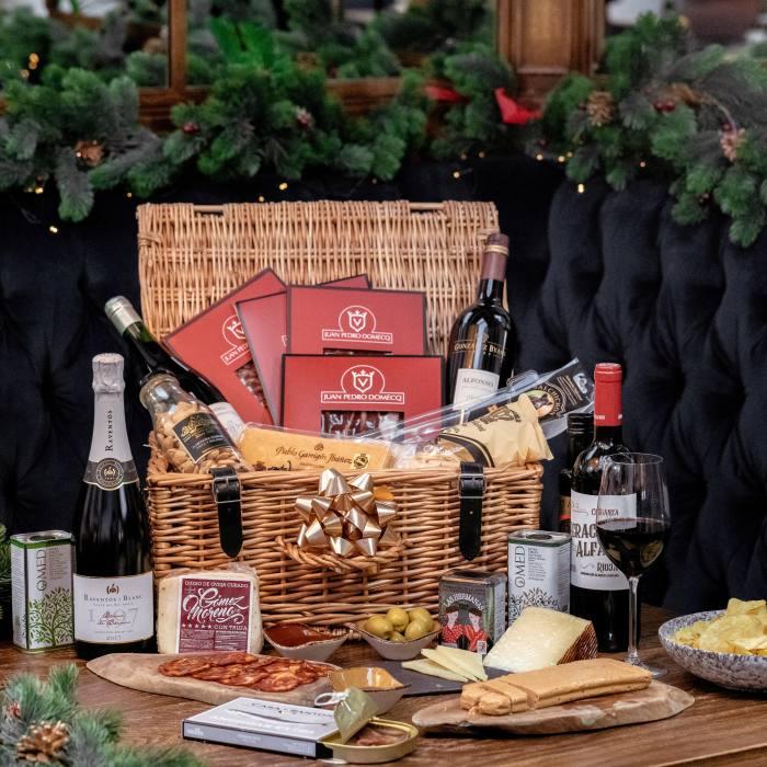 Iberica's Christmas hamper contains 14 Spanish delicacies