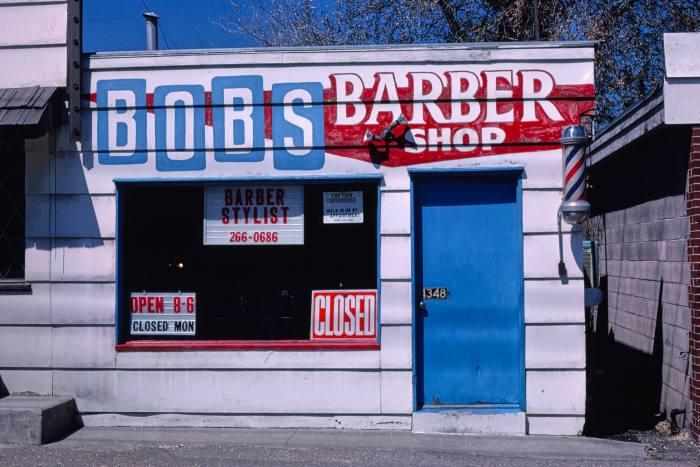 Bob's Barber Shop,4348 South&900 East, Salt Lake City, Utah, 1981
