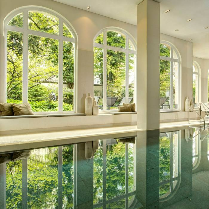The pool in Villa Kennedy's spa