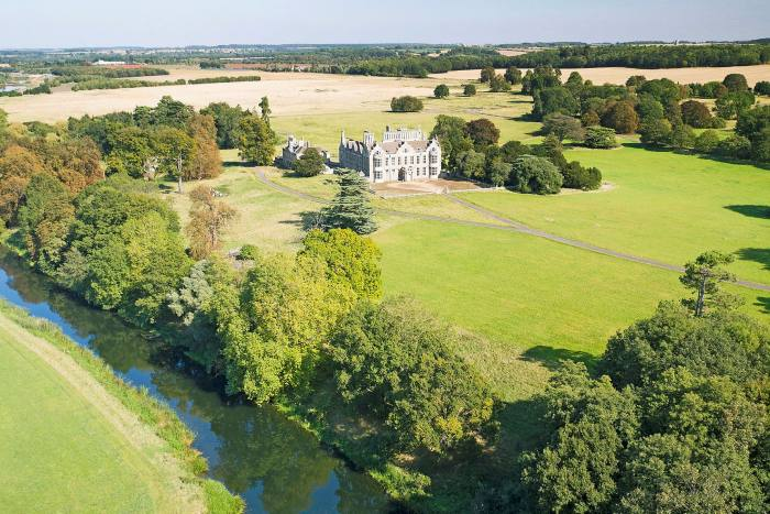 'Mostly Jacobean beauty' Lilford Hall, a 321-acre estate with its own island, £10m
