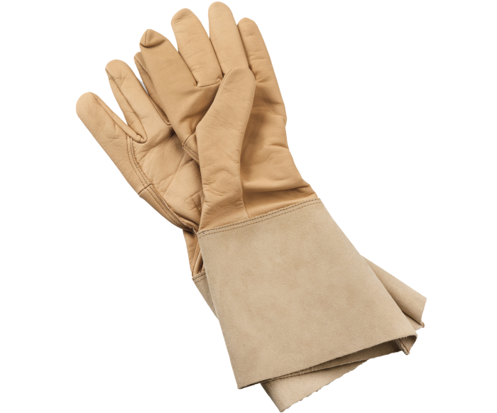 Rostaing leather gauntlets, £44, from manufactum.co.uk