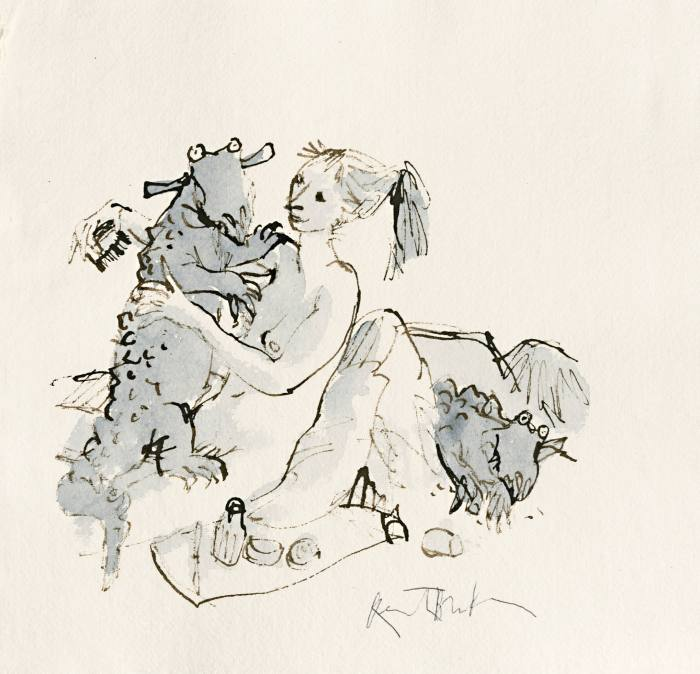 Women & Strange Creatures #1 by Quentin Blake, £2,000-£3,000, to be auctioned at Christie's; all proceeds to House of Illustration.