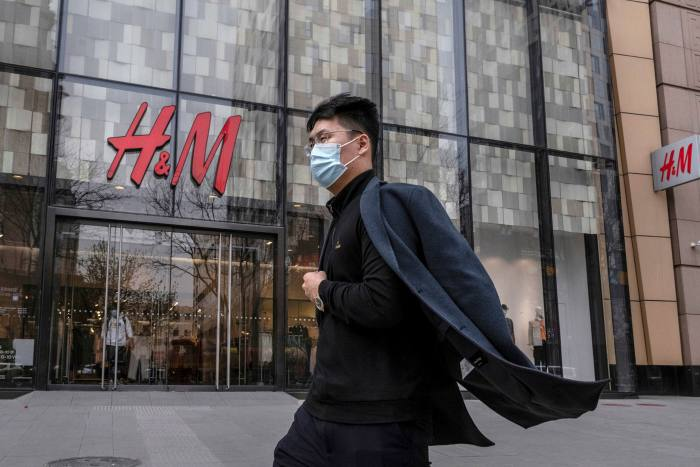 H&M store in Beijing, China on March 20 2021