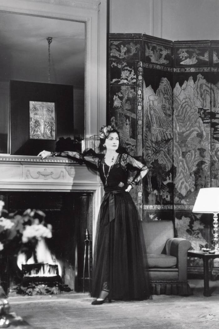 Gabrielle Chanel inher suite at the Paris Ritz ina1937 advertisement