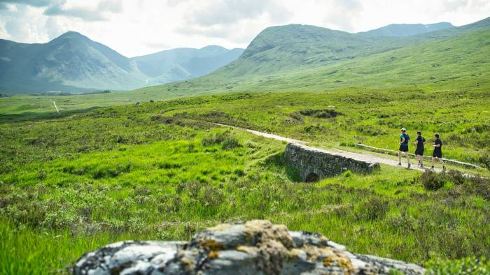 Tom Wilson running part of stage one of the Highland Kings Ultra across Rannoch Moor