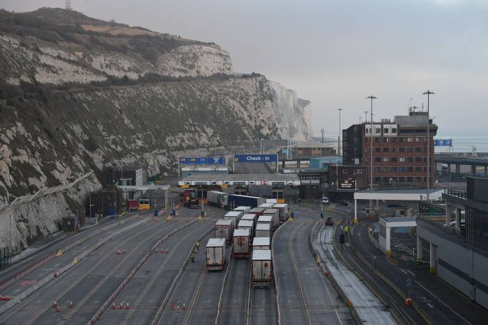 Lorries arriving at the port of Dover on December 31, 2020 – Britain's last day in the European single market