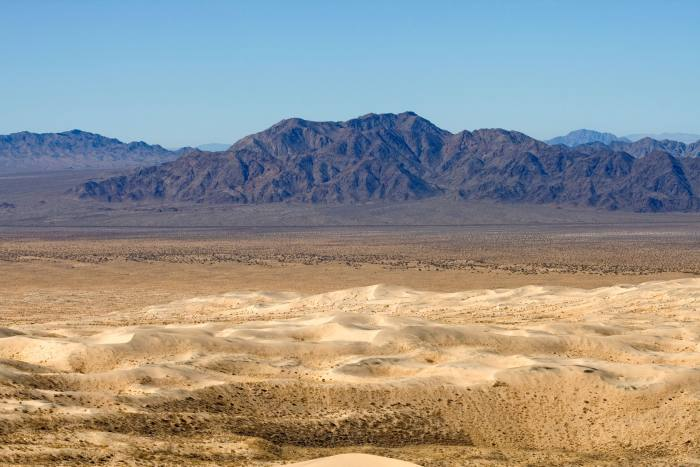"The Mojave Desert, which the designer describes as his ""personal shrink"""