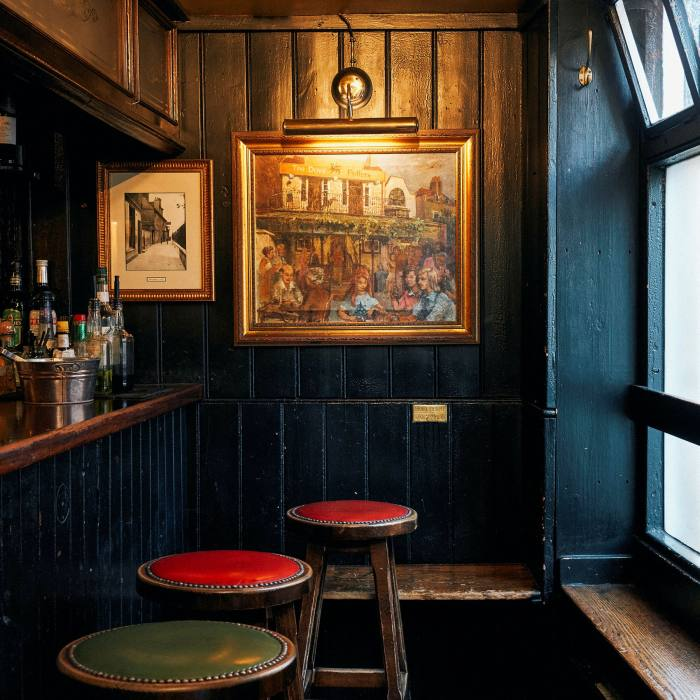 The Dove's snug was listed by the Guinness Book of Records as the smallest bar room in the UK
