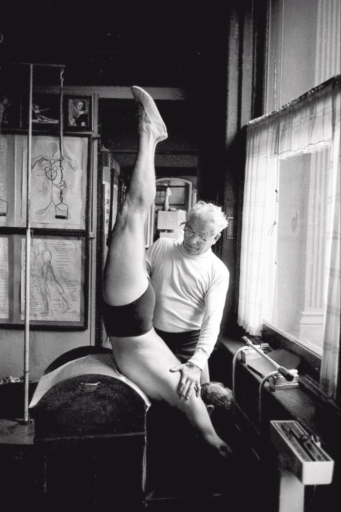 Joseph Pilates in his studio, 1961