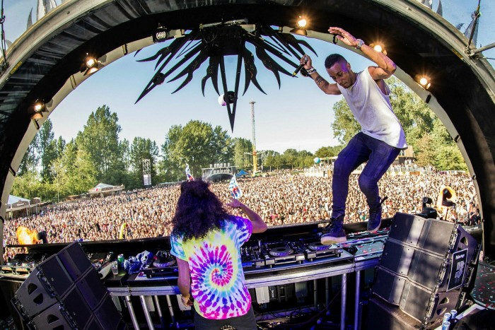 DJs perform at the Mysteryland festival in 2017. This year's event was cancelled by the Dutch government, sparking an immediate legal action from promoter ID&T to reverse the ban