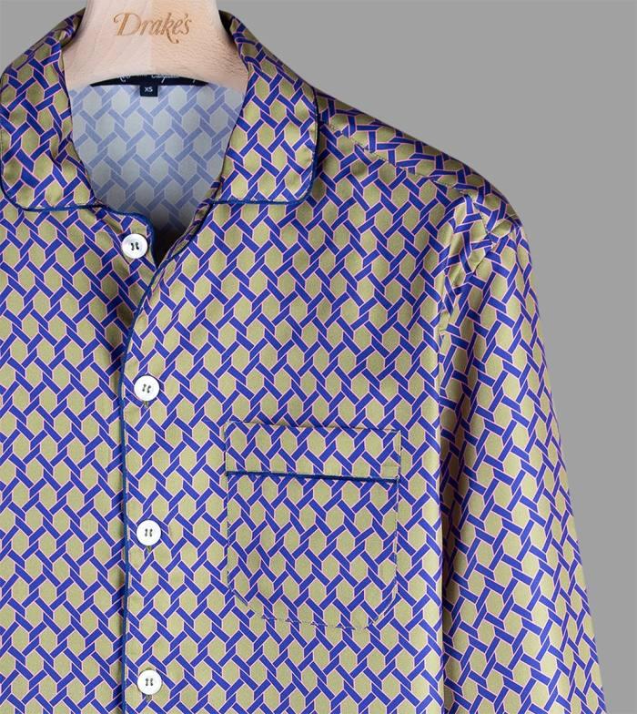 Drake's x Campbell-Rey silk Giardinetto pyjama shirt, £175