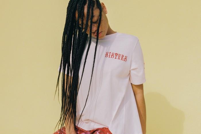 Salem Mithchell wears Simone Rocha #PowerToChange T-shirt
