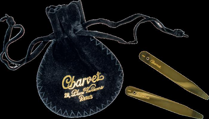 Charvet vermeil collar stiffeners, €205