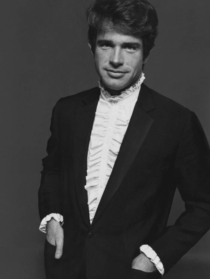 Warren Beatty – wearing a Turnbull &Asser silk-crepe ruffled shirt – was an early proponent in the 1960s