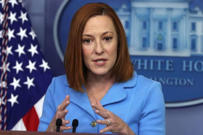 Jen Psaki, the White House press secretary, said: 'Harbouring criminal entities that are doing harm to the critical infrastructure in the US is not acceptable'