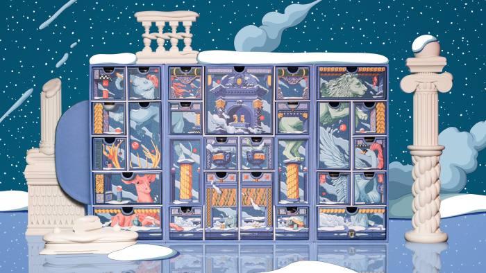 Diptyque's advent calendar contains eaux de parfum, candles and Christmas decor