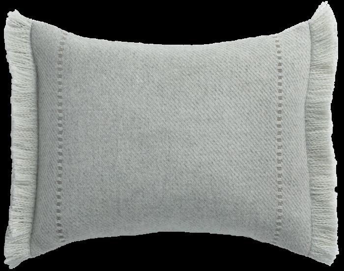 Cashmere wool twill cushion, £220, from delecuona.com
