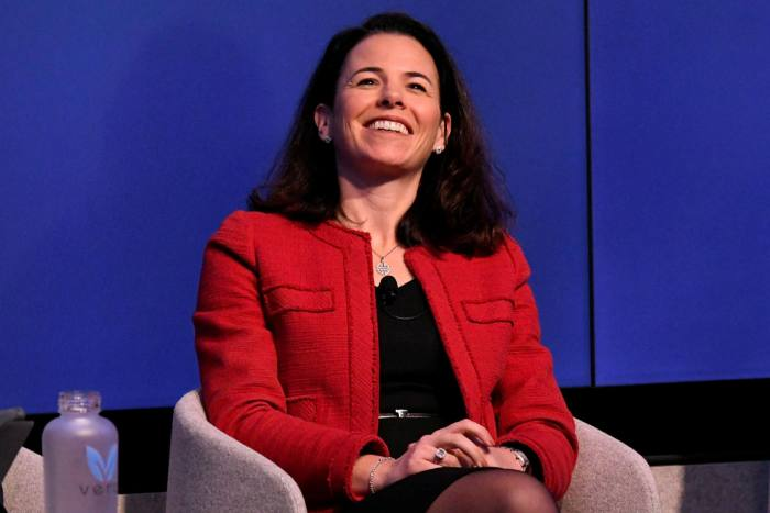 Christiana Riley of Deutsche Bank has been impressing a 'family first' mantra on her staff