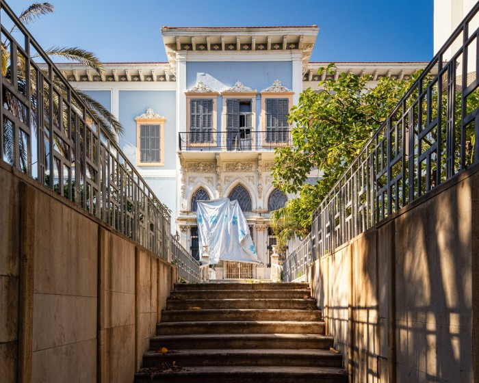The facade of a mansion on Sursock Street, Beirut