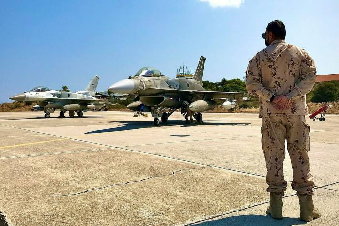 UAE jets prepare to take part in joint training with Greek forces