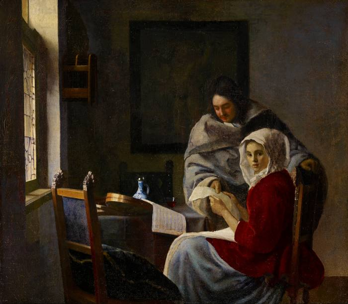 Girl Interrupted at her Music, c1658-59, by Johannes Vermeer