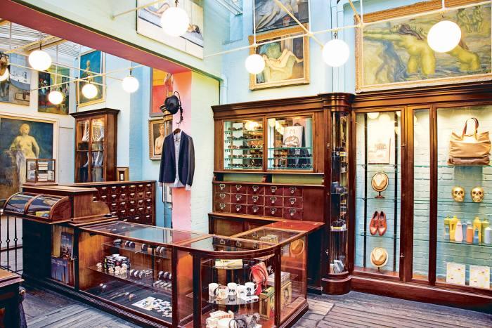 The original interior of 44 Floral Street, Covent Garden.