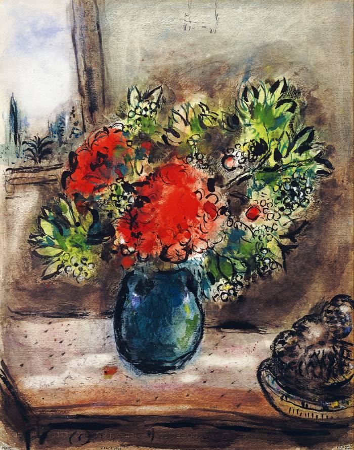 Geraniums, 1949, by Marc Chagall