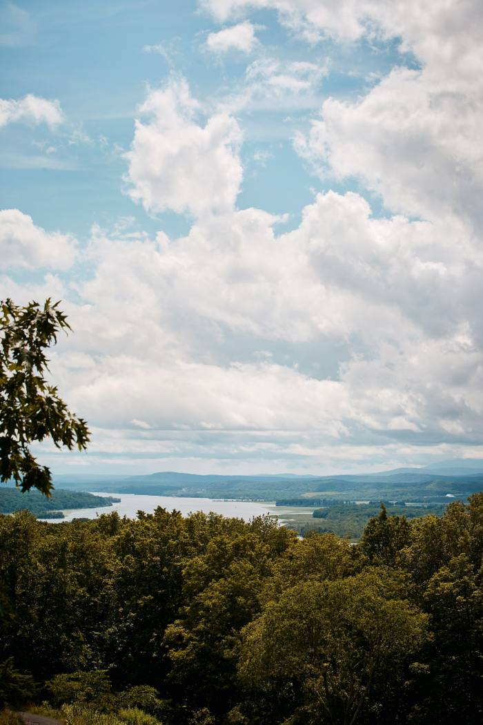 A view of the Hudson river from Olana, the former homeof Hudson River School painter Frederic Edwin Church