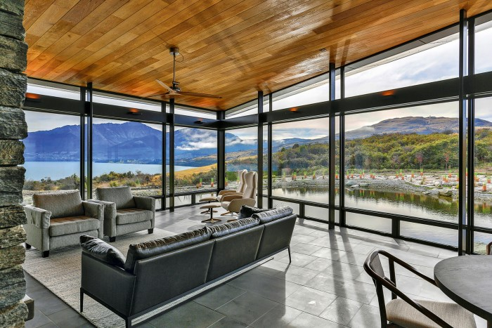Lake Wakatipu in New Zealand is set in mountains and forests – this house on its shores is on sale for £9,579,124 through Sotheby's International Re