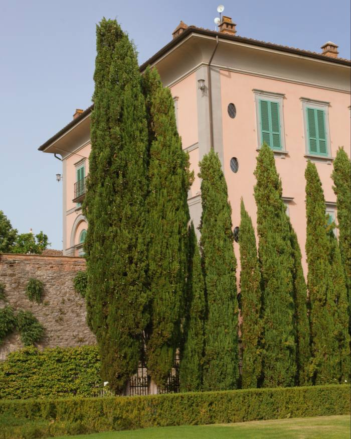 The main villa is now part of the Relais & Chateaux resort