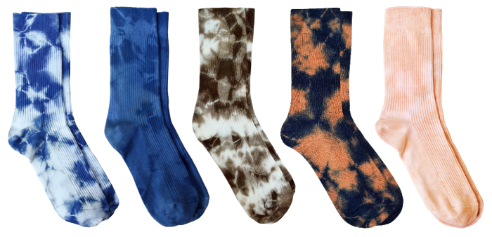 Philip Huang natural tie-dyed socks, £67