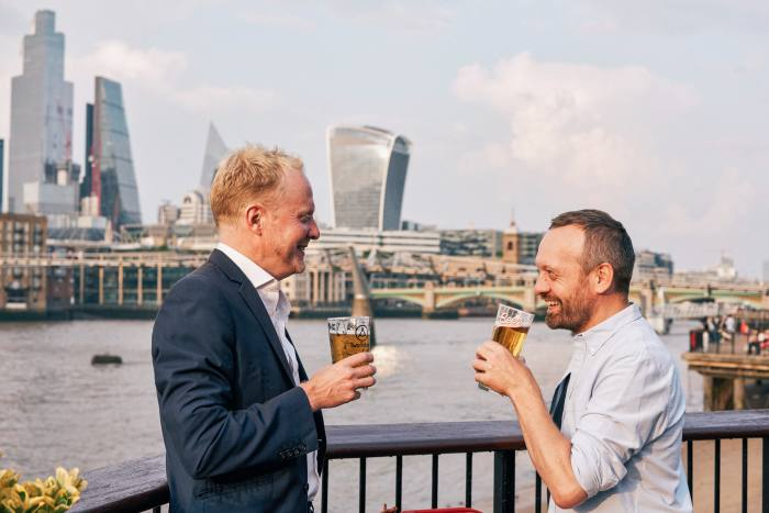 What sup? Jim Pickard and Robert Orr get ready to embark on their review of London's riverside pubs