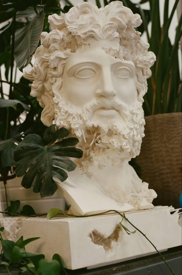 Quartz Eroded Zeus, by Daniel Arsham