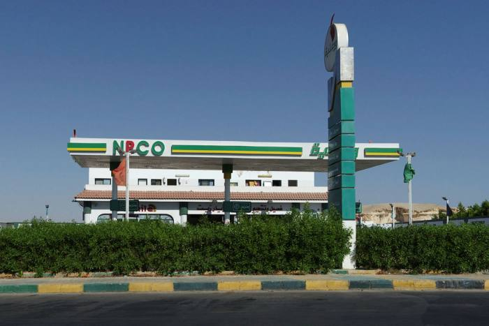 A petrol station in Hurghada. The military-owned NSPO is privatising some of its companies, includingWataniya, which runs about 200 service stations