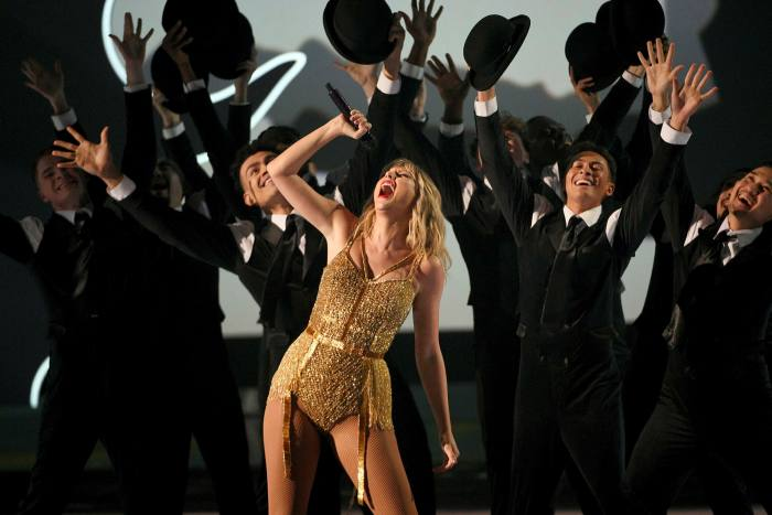 Taylor Swift performs at 2019 American Music Awards in Los Angeles