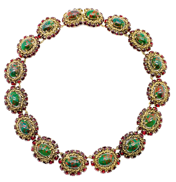 Necklace from a 1964 Dior parure, £2,425 from Jennifer Gibson Jewellery