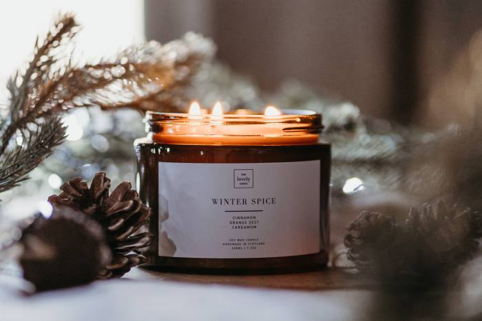 Our Lovely Goods Winter Spice candle, £47