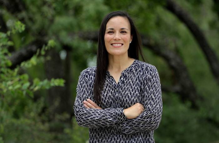Air Force veteran Gina Ortiz Jones is the Democratic nominee for the 23rd district, one of the state's swing battlegrounds. She believes women who usually vote Republican are angry at how President Trump has handled the pandemic