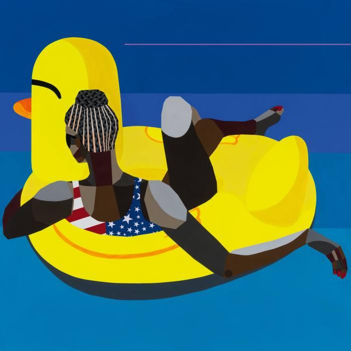 Floater 95, 2020, by Derrick Adams