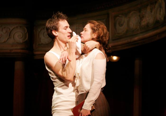 With Poppy Miller in a 2005 production of 'Hamlet' by his long-time friend Rupert Goold, artistic director of London's Almeida Theatre