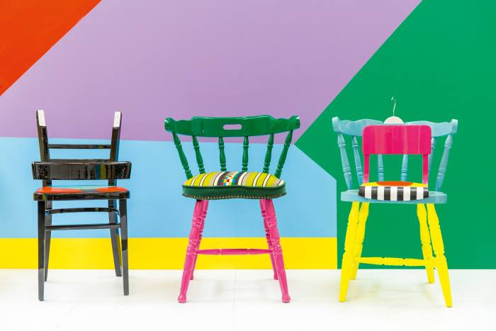 If Chairs Could Talk, 2015, by Yinka Ilori