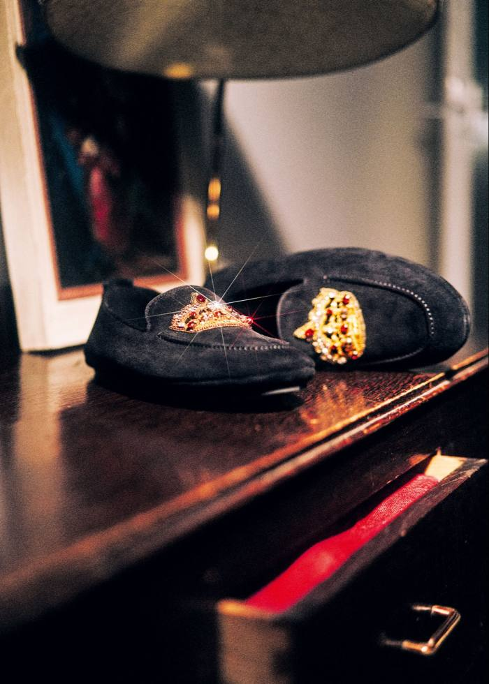 Dolce & Gabbana suede slippers, £775
