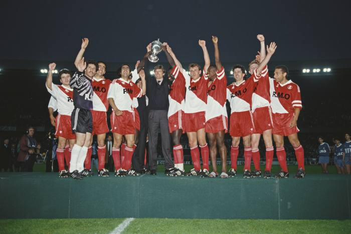 Wenger led AS Monaco to the French league title in his first season there. Here they celebrate winning the Coupe de France in 1991